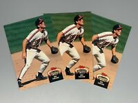 Jim Thome 1992 Topps Stadium Club 3 Card Lot #360 Cleveland Indians