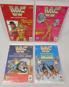 WWF WWE 1991 Valiant Action Comic book lot 4 - 21841 21842 21843 21844