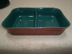 SUPERB DENBY CLASSIC / HARLEQUIN DIVIDED SERVING DISH LOVELY LIGHTLY USED COND