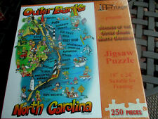 "New 250 Piece Cartoon Puzzle ""Beaches of the Outer Banks N C "" 18""x24"""