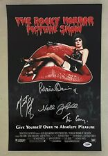 Rocky Horror Picture Show Cast 4x Signed 11x17 Photo Tim Curry Meatloaf Psa/Dna
