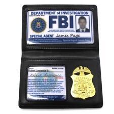 Portefeuille FBI Porte-carte FBI Badge de la police américaine Cosplay