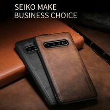 Back Phone Case For Samsung Galaxy S10 Plus E Leather Soft Silicone Edge Cover