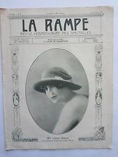 Melle Linette DOLMET REVUE la RAMPE THEATRE CONCERT MUSIC HALL n° 94 1917