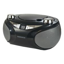 Magnavox MD6949-BK Portable CD Boombox with AM/FM Radio and Bluetooth in Black