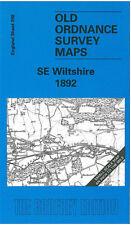 OLD ORDNANCE SURVEY MAP SE WILTSHIRE AMESBURY STONEHENGE TISBURY WILTON 1892