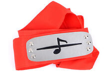 Anime Naruto Akatsuki Member Orochimaru Cosplay Headband Head Band Protector Red