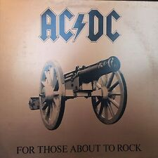 AC/DC FOR THOSE ABOUT TO ROCK LP 1981 ATLANTIC SD 11111 GATEFOLD INNER