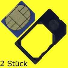 2x Plug-In Micro SIM Card Adapter, dt. Produkt, Mikro SIM Karten Adapter