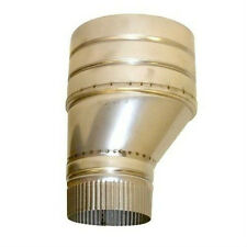 "5 inch Chimney OFFSET Flue Adaptor To Fit 7.75"" Concrete / Ceramic Chimney Flues"