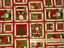"Ho Ho Holiday Santa Mumm Christmas Fabric Blocks 29"" Repeat    #67448"