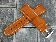 24mm Gator Leather Strap Brown Watch Band Made Super Avenger Tang Buckle BR