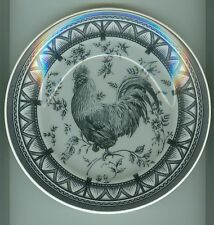 """MYOTT FACTORY QUEEN'S """"COUNTRY ROOSTER"""" SALAD PLATE - BLACK & CREAM L@@K!!!"""