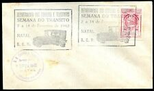 BRAZIL SEMANA DO TRANSITO NATAL CITY, 2 Cancels on Cover 1942 VF