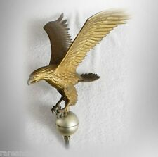Eagle vintage metal weathervane  with spread wings - gold color - FREE SHIPPING
