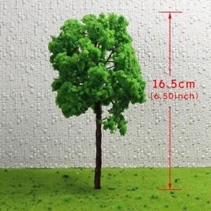 G16090 8pcs G O Scale 1:43 Model Tree Light Green Railway Diorama 16cm
