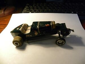 1:32 SCALE RALLY Slot Car for PARTS ~ RESTORE ~ PROJECT ( Untested ) Green # 4