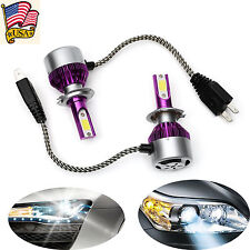 2018 New H7 Led Car Headlight Conversion Cob Beam Bulbs Driving Lamps 6000K 200W