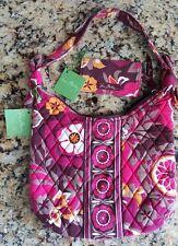 Vera Bradley Olivia Hand Bag Carnaby Pink Burgundy Yellow Brown &Card Holder NWT