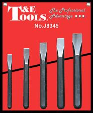 5 Piece Cold Chisel Set T&E Tools J8345