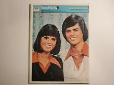 Vintage 1977 Donny and Marie Osmond Head Shot Frame Tray Puzzle, Whitman Ex