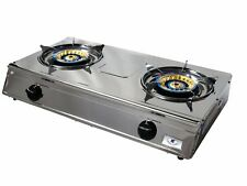 Double LPG Gas Wok Cooker Stove with 1.5m hose and regulator
