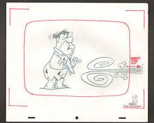 """Flintstones Animation Art - """"Rock Rockstone"""" Fred Surprised #11 Sc. 7"""