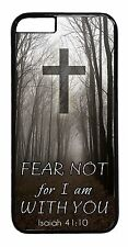 Case Cover iPhone 6/6s/Plus/5/5s/5c/4s Christian Quotes Cross Bible Verse Isaiah