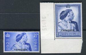 Morocco Agencies Tangier KGVI 1948 Royal Silver Wedding set SG255/6 MNH