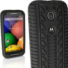 Nero Silicone Custodia Pneumatico per Motorola Moto E XT1021 Gel Skin Case Cover