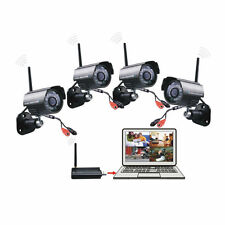 2.4G Digital Wireless Video 4 Camera USB Receiver DVR Home Security CCTV System