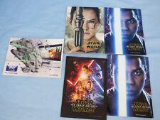 Bundle Lot 5 Star Wars Force Awakens Promotional Post Cards Millennium Falcon