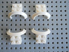 LEGO Vehicle Car Truck Mudguard Arch 4 x 2½ x 2 Peices Parts Lot of 4 White