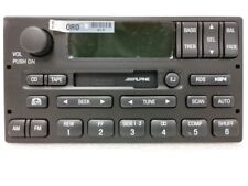 Ford cassette radio w RDS CDC. OEM original Alpine stereo.Factory remanufactured