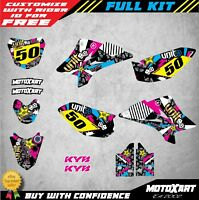 Custom Graphics Full Kit to Fit Yamaha TTR 50 2006 - 2019 RUSH STYLE stickers