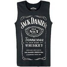 Jack Daniels Adult Male Old No.7 Brand Logo Medium Tank Top