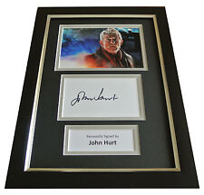 John Hurt Signed A4 FRAMED Photo Mount Autograph Display War Doctor Who TV COA