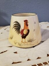 Home Interiors COUNTRY ROOSTER Large Candle Shade Jar Topper Farmhouse Decor