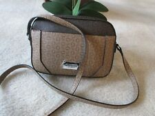 Guess Women's Crossbody Brown/Natural Multi Signature Bag New With Tag