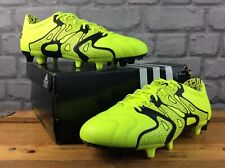 ADIDAS MENS UK 6 EU 39 1/3 15.2 FG/AG FOOTBALL BOOTS FLO YELLOW BLACK RRP £65 M