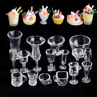 17PCS Ice-Cream Sundae Mini Cup For Dollhouse Miniatures Food Supply Groceries A