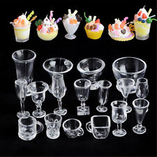 17PCS Ice-Cream Sundae Mini Cup For Dollhouse Miniatures Food Supply Groceries C