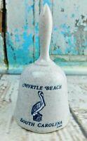 "Vintage Porcelain Myrtle Beach SC South Carolina Figurine Bell 5"" Tall"