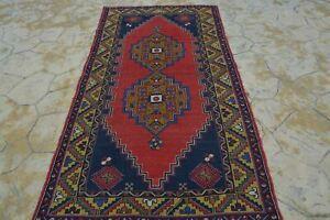 Vintage Rug, Knotted Tapijt, Alfombra Tapis Medium Carpet, Vintage Antique Triba