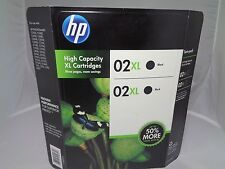 Genuine OEM HP 02 XL Combo Value Pack Ink Black Twin Pack 12-2014 Sealed