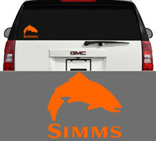 Simms Fishing Outdoor Sports Trout Vinyl Decal Sticker Window Cooler Orange