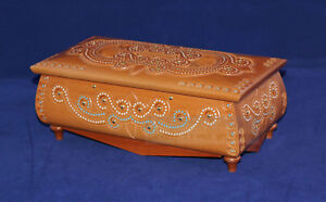Walnut Fashion Wooden Jewelry Box Hand Carved Handmade Jewel-case Real Wood