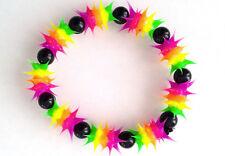 UV GLOW  Silicone Bracelet surfer rave dance hippie Rainbow purple  UV GLO 003