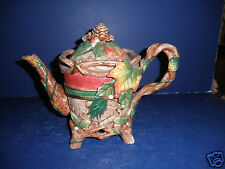 Fitz and Floyd Christmas Lodge Teapot- New in Box-19/1362