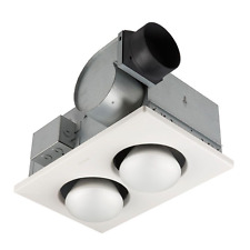 Bathroom Vent Fan With Light Ceiling Heater Two Bulb Bath Infrared Ventilation